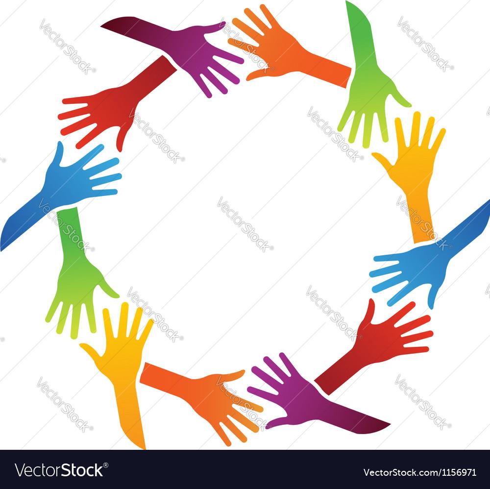 Team Hand Shake logo vector image