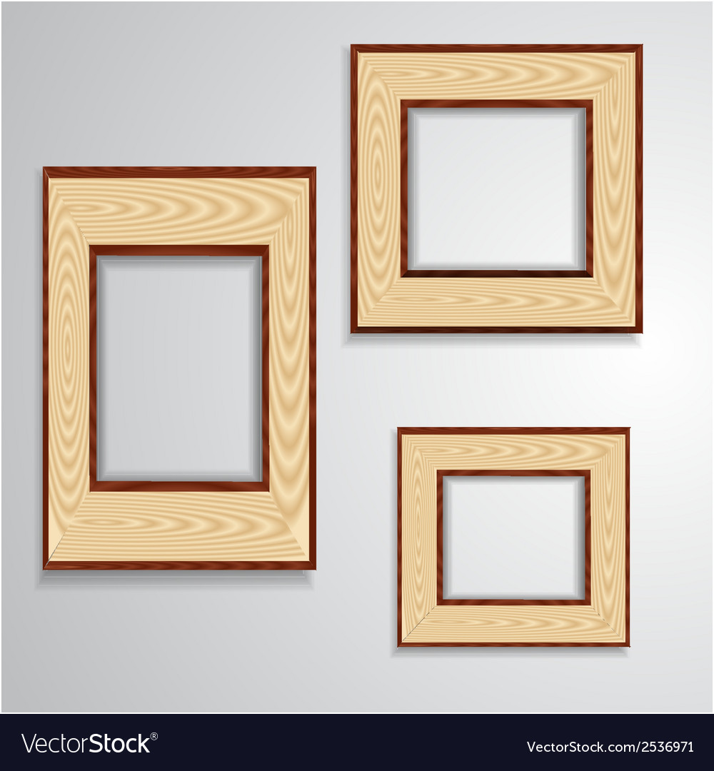 Vintage isolated blank frame Royalty Free Vector Image