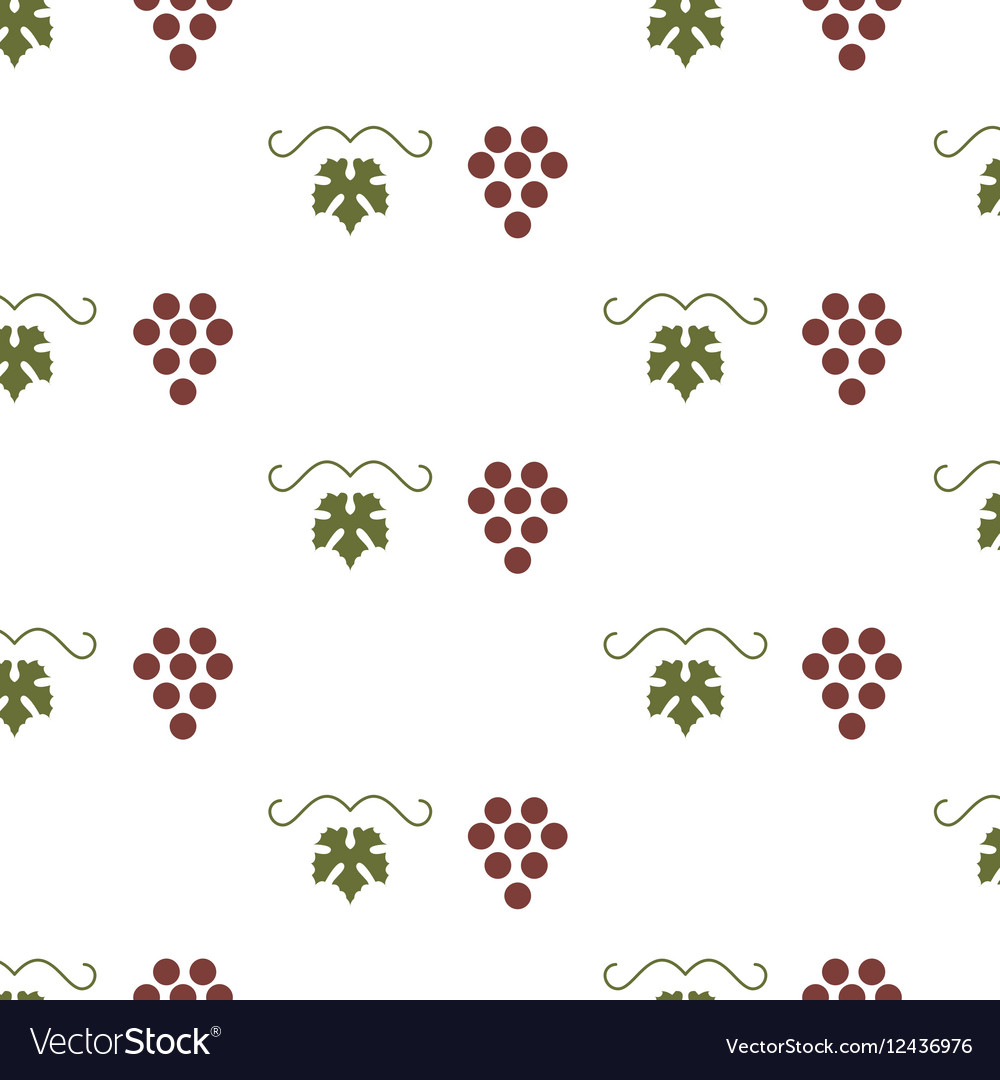 Bunch of grapes seamless pattern