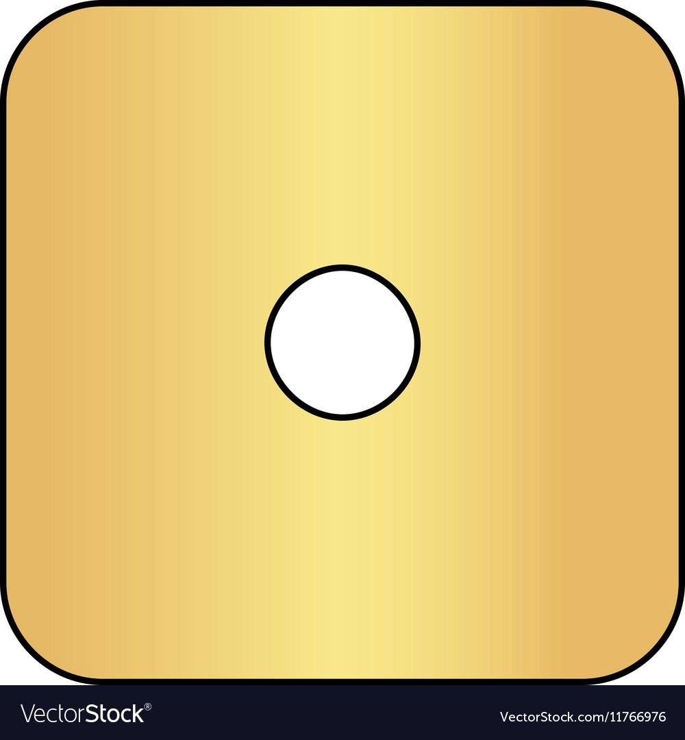 Dice 1 computer symbol vector image