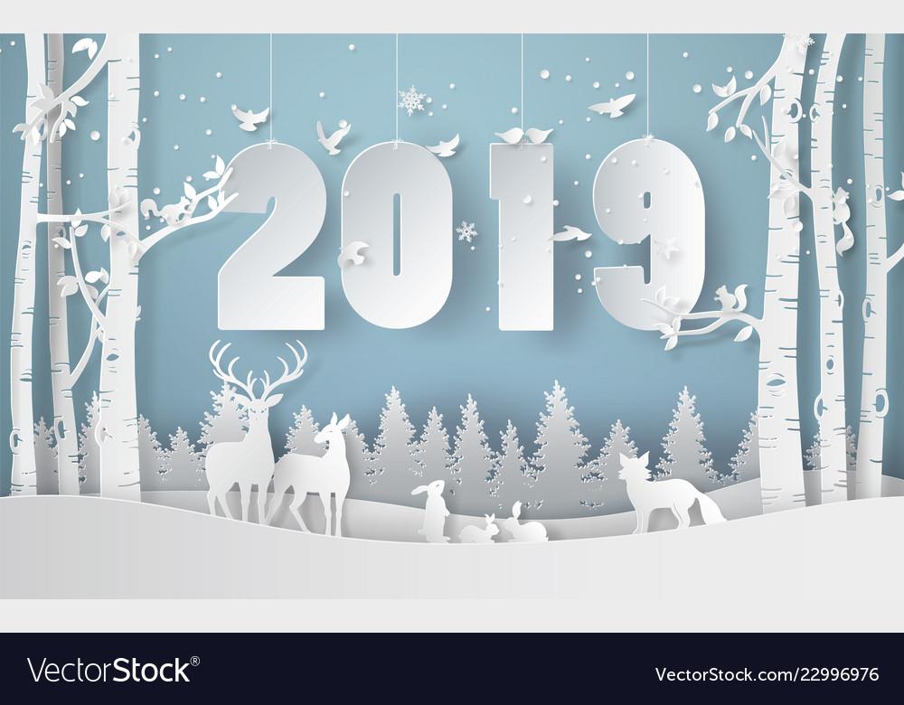 Happy new year and winter season