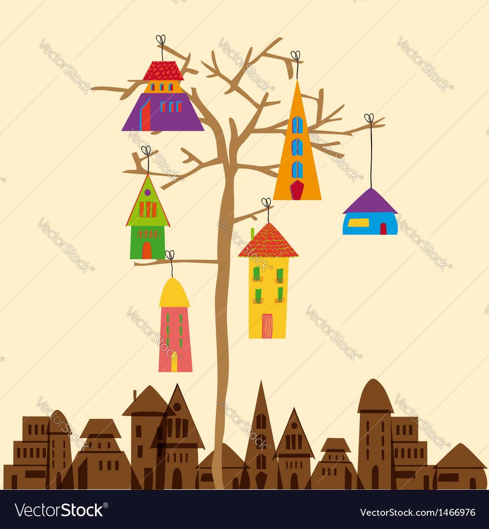 Little town tree