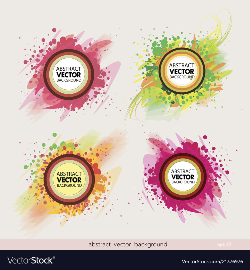 Set of abstract label background