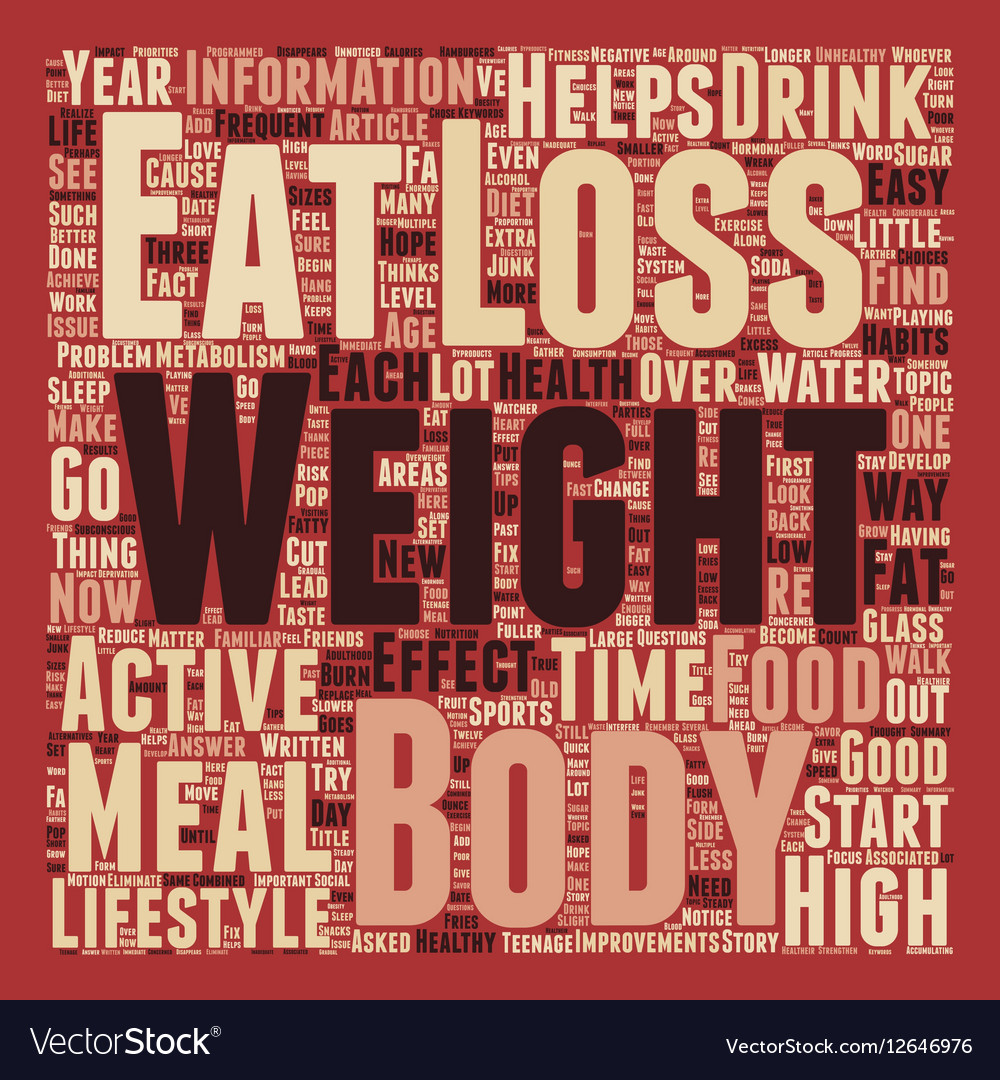 The Easy Side Of Weight Loss text background