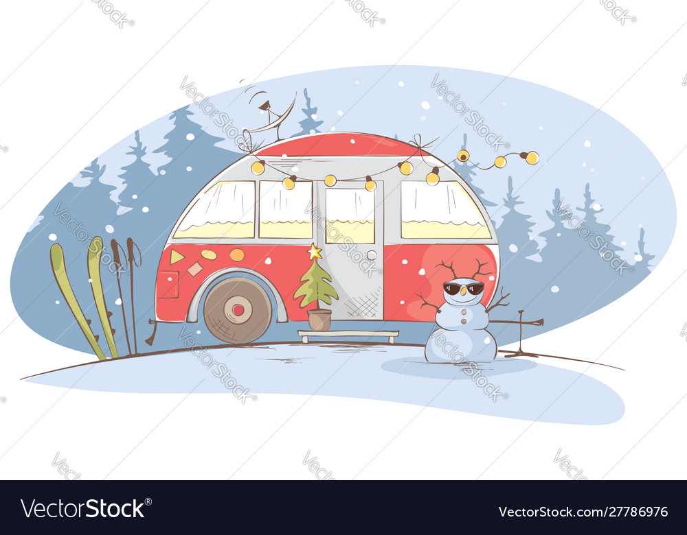 Winter travel in a house on wheels
