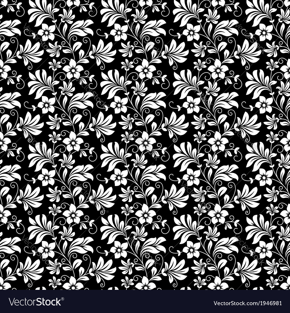 Beautiful intricate retro seamless floral pattern