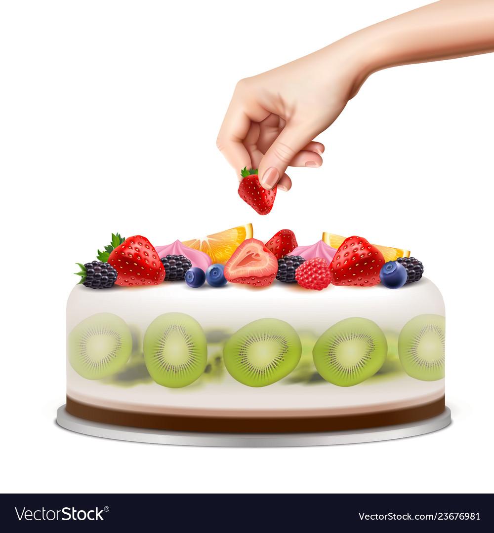 Birthday cake realistic image