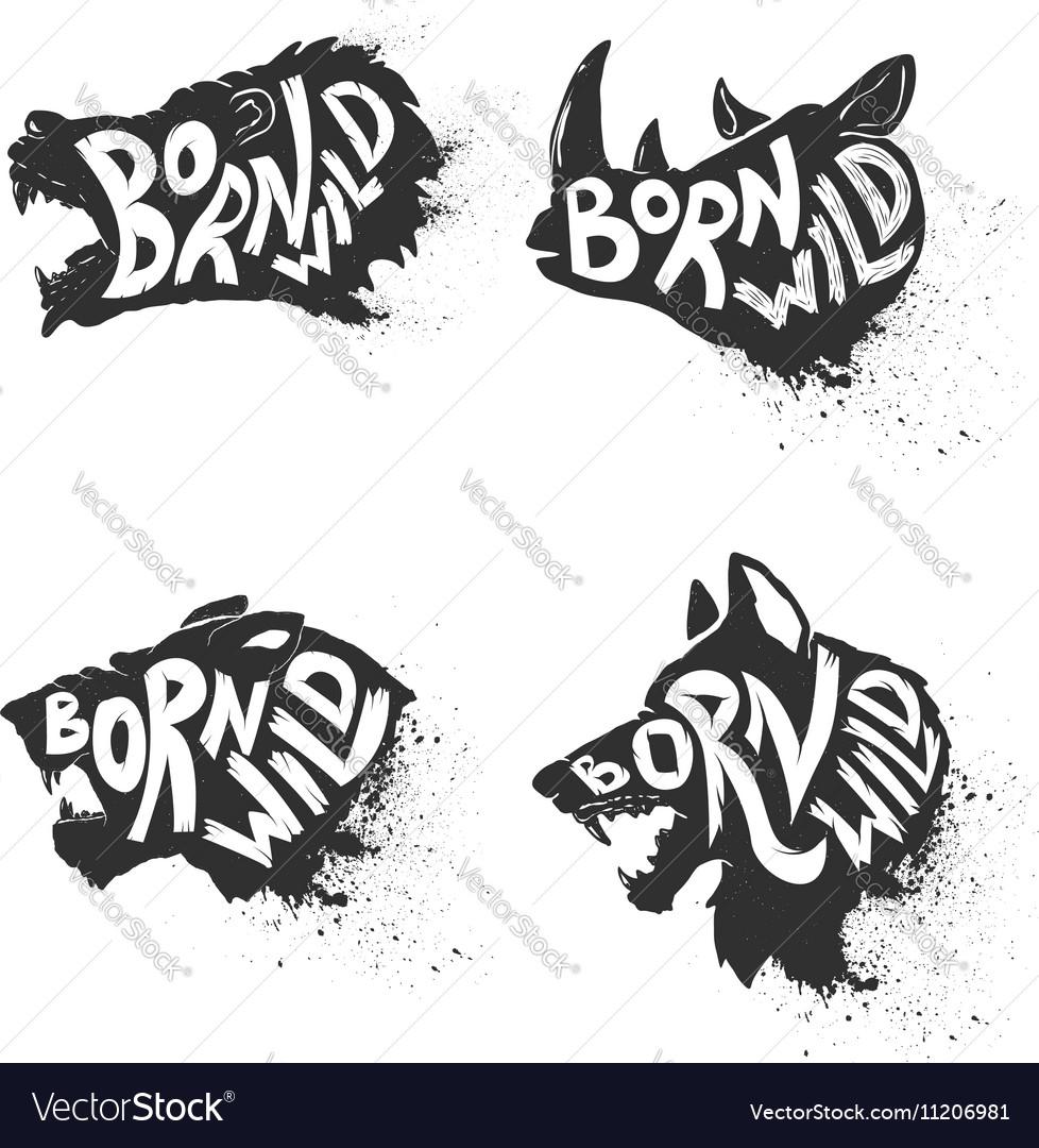 Born wild Wild animals vector image