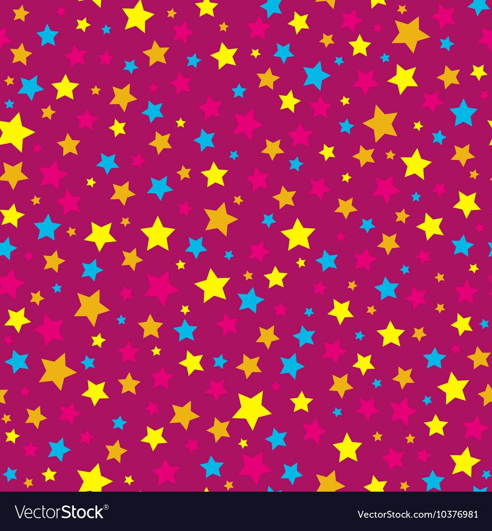 Bright stars pink seamless pattern