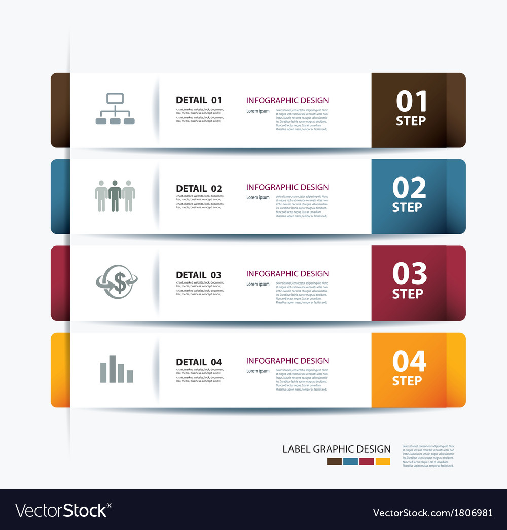 Business step paper data and numbers template vector image wajeb Image collections