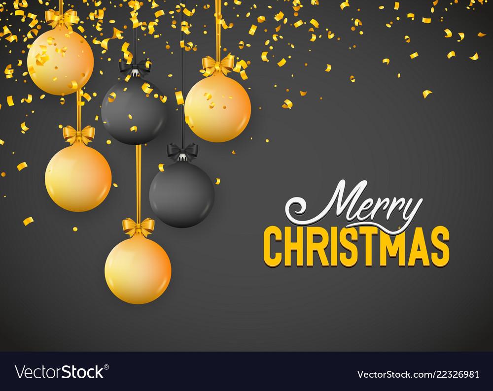 Christmas greeting card design of xmas balls with