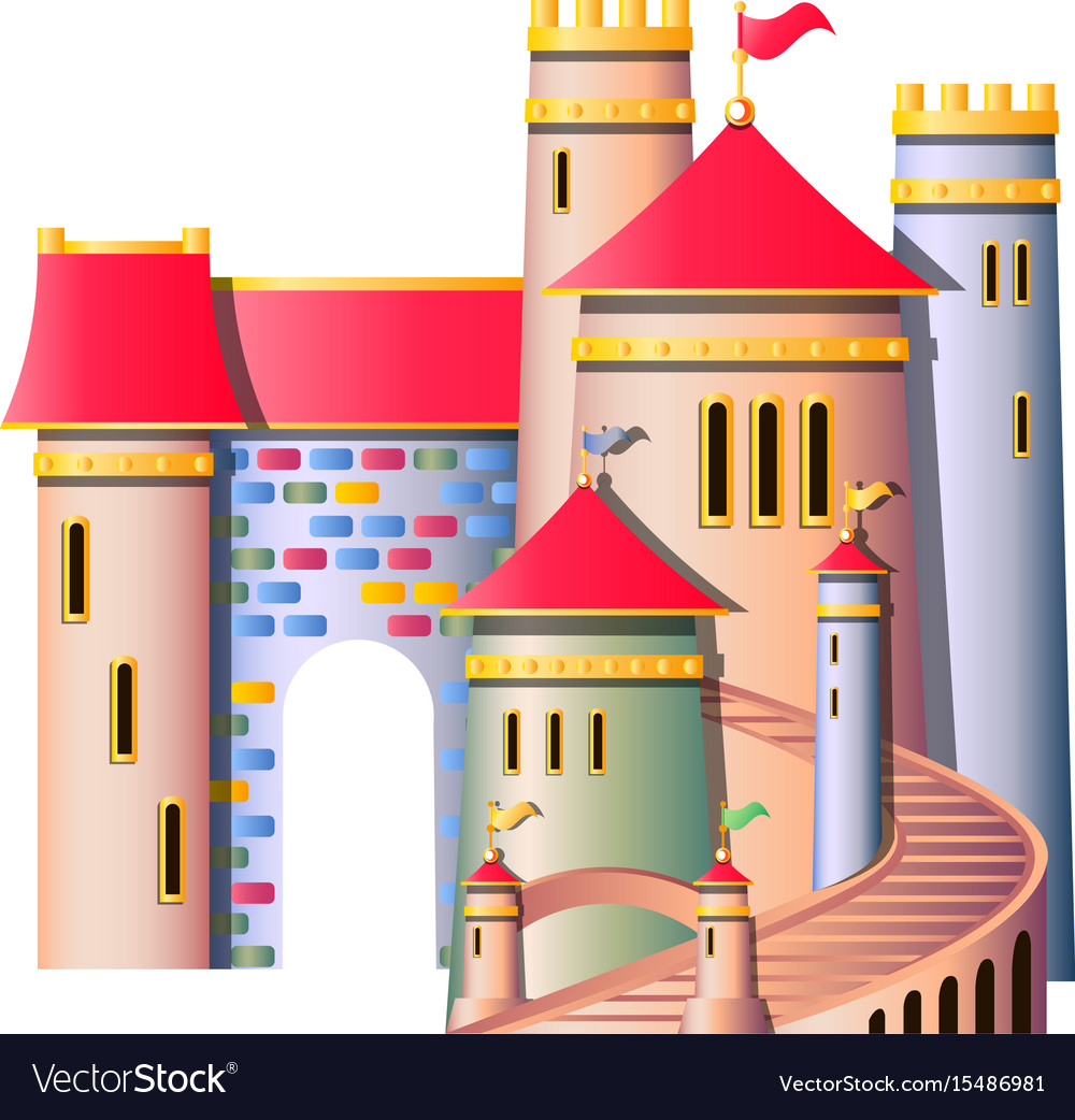 Fairytale castle isolated vector image