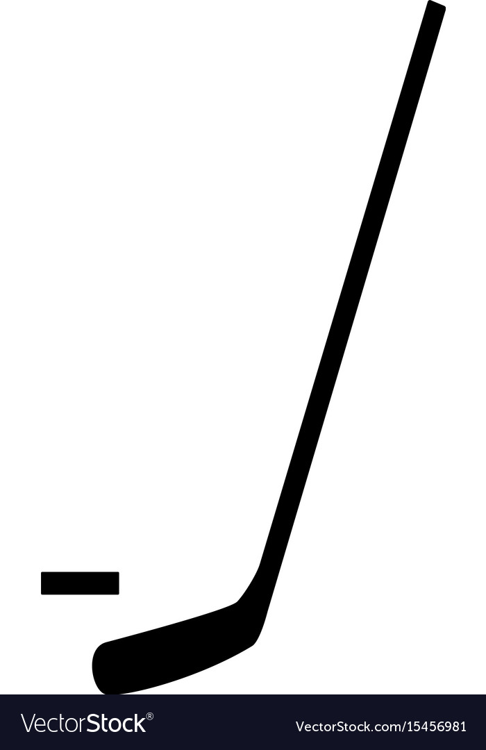 Hockey sticks and puck the black color icon