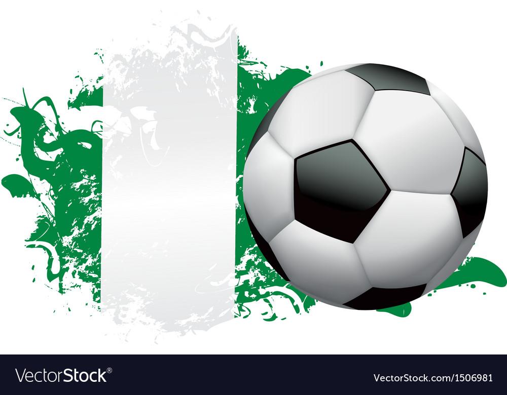 Nigeria Soccer Grunge