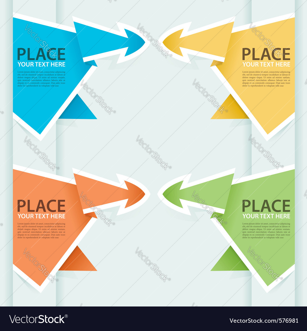 Paper origami arrow vector image