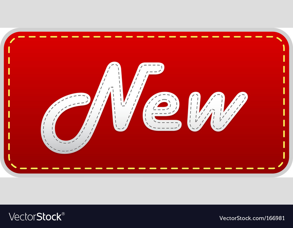 Red label with new text vector image