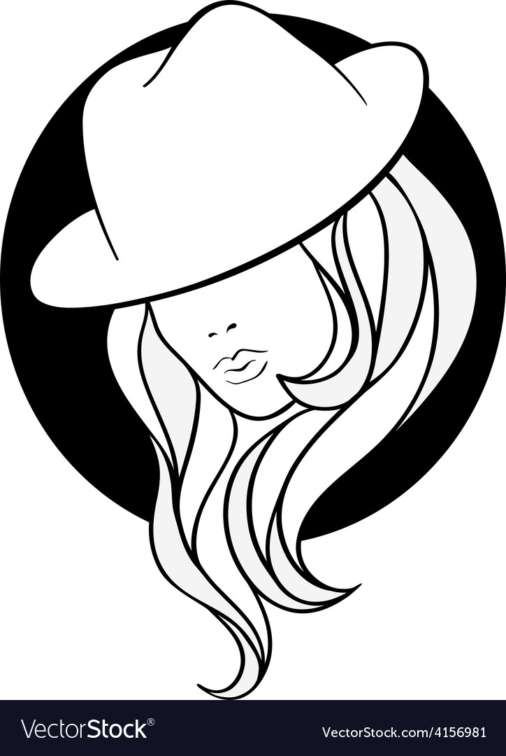 Young girl in a vintage gangster hat
