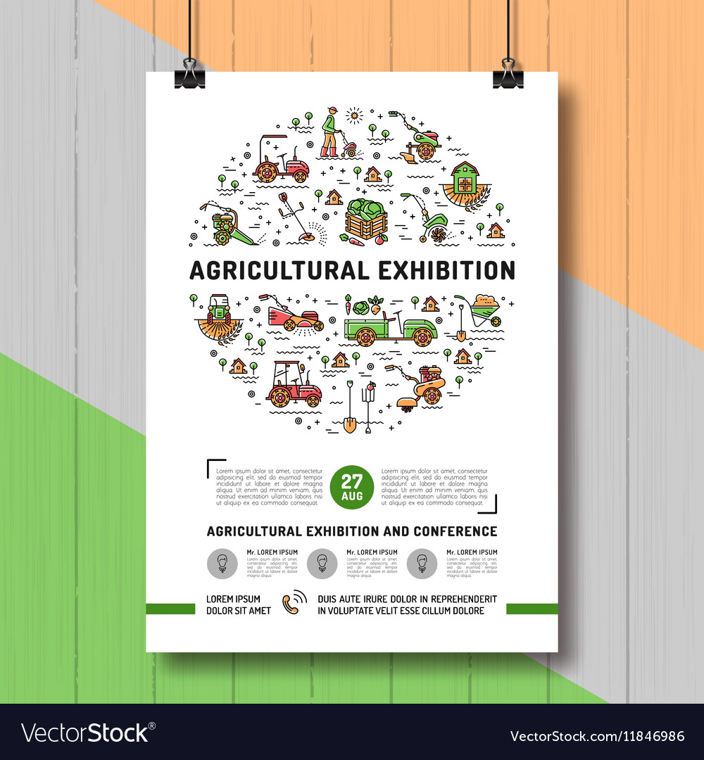 Agricultural Exhibition design poster or card