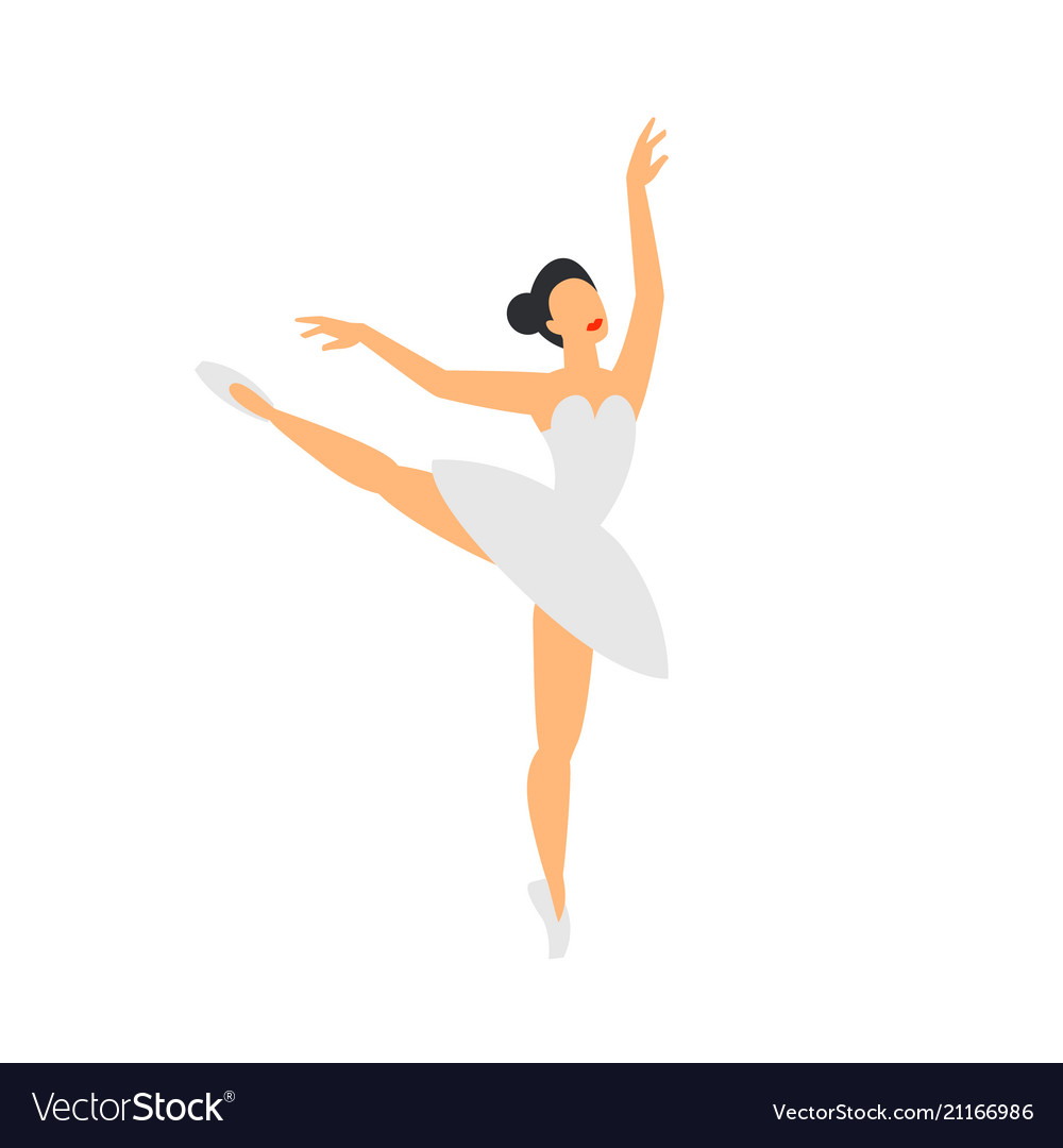 Ballet Dancer Dancing Ballerina On A White Vector Image