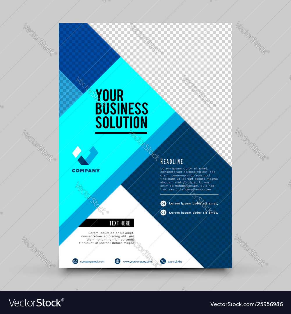 Blue business flyer design template