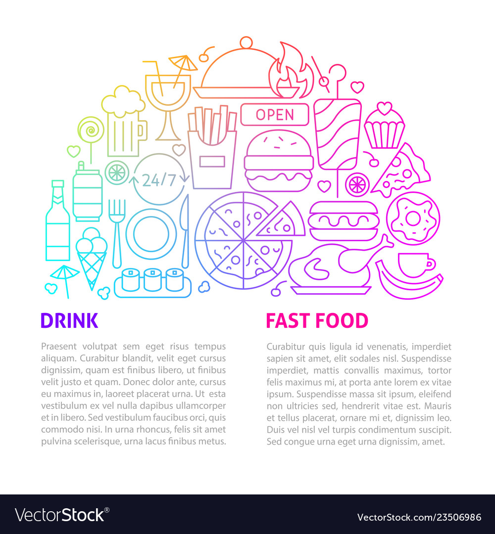 Fast food line template