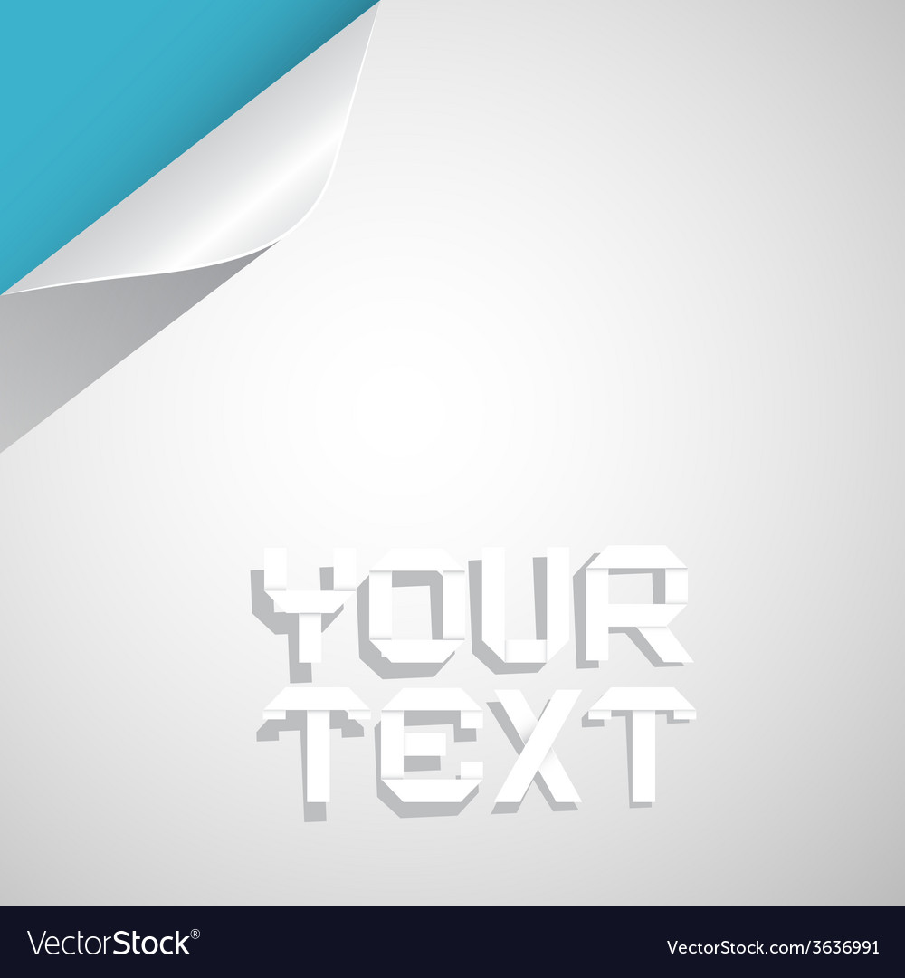paper layout template with bent corner vector image