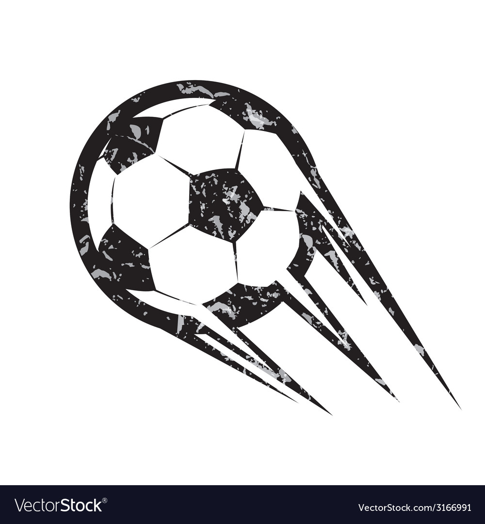 Soccer ball football symbol in grunge style