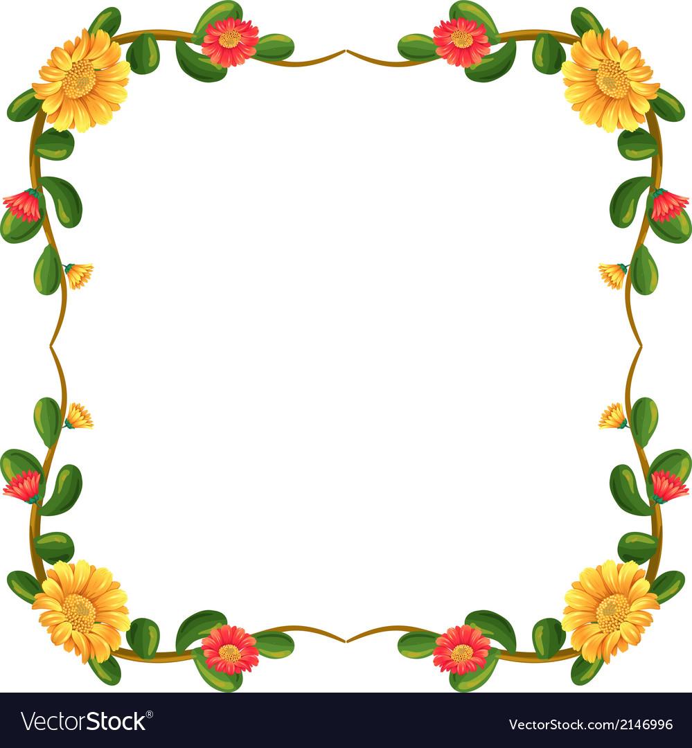 A margin decor with flowers