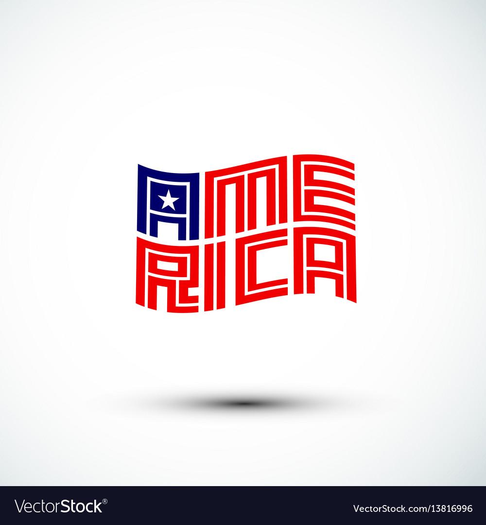 America logo flag sign amp symbol flat