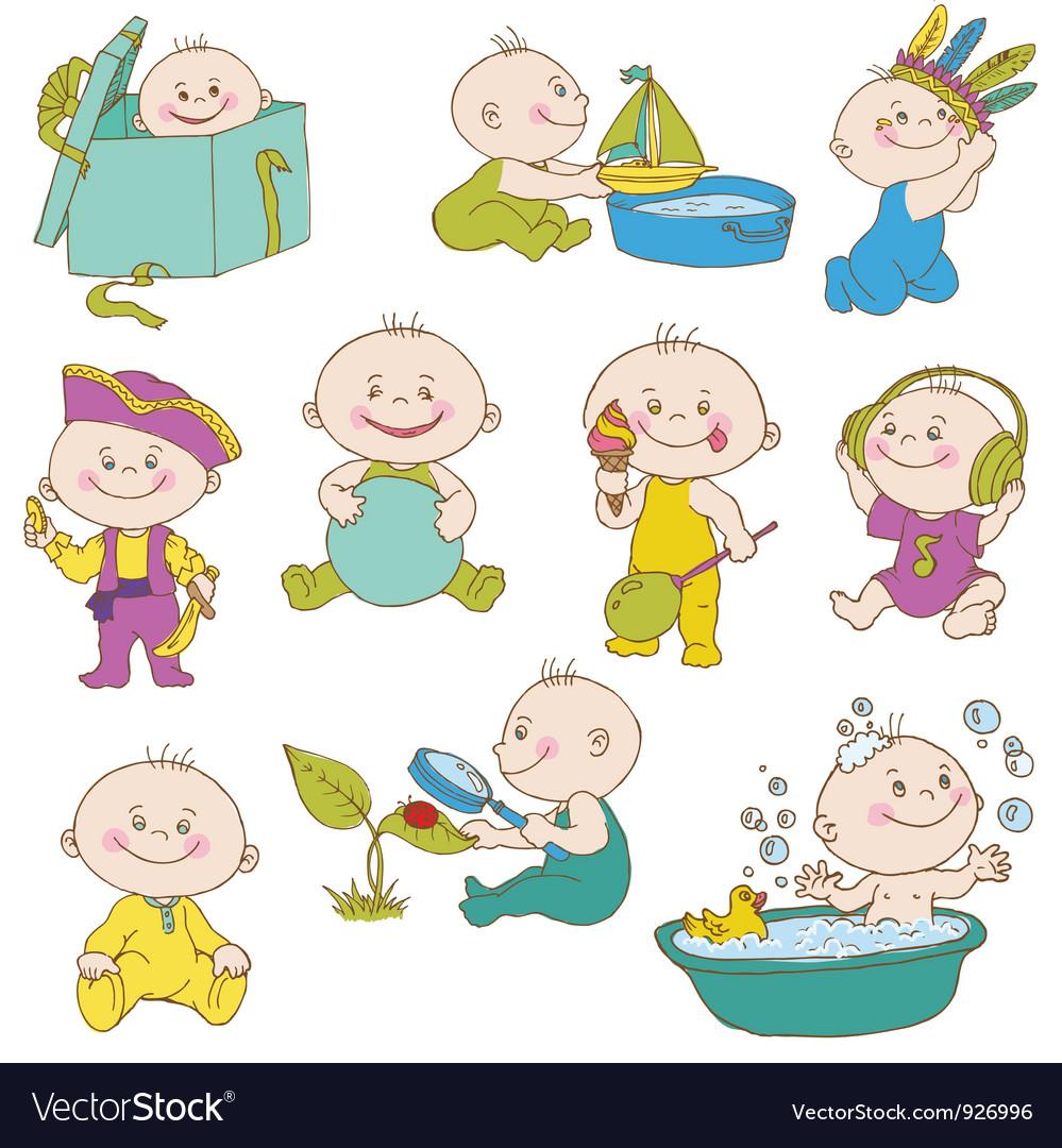 Baby Boy Doodle Set