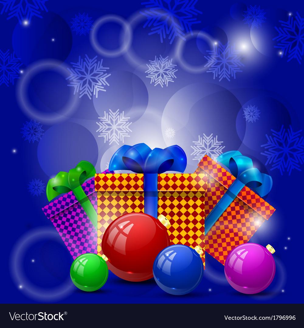 Christmas gifts and Christmas balls