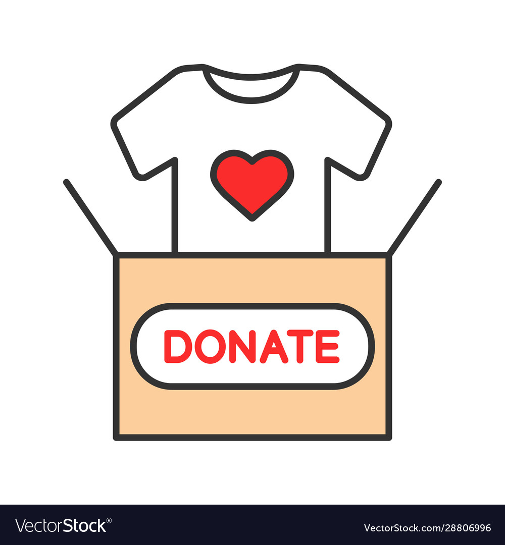 Clothes donating color icon
