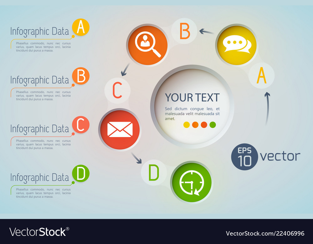 Data icons infographic concept