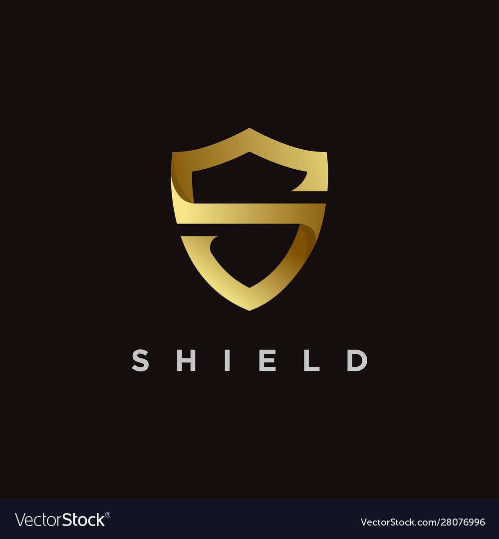 Elegant s shield logo icon