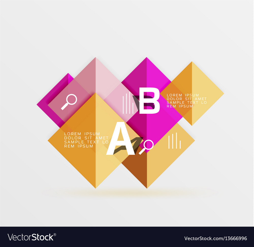 Geometric abstract background with option
