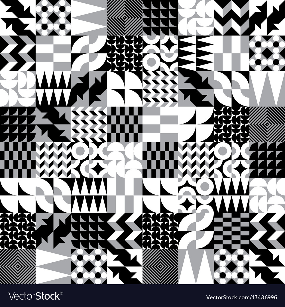 Geometric tiles linear seamless pattern