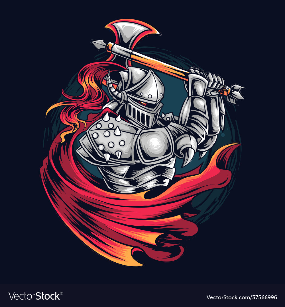 Knight warrior as e-sports gamer logo or t-shirt