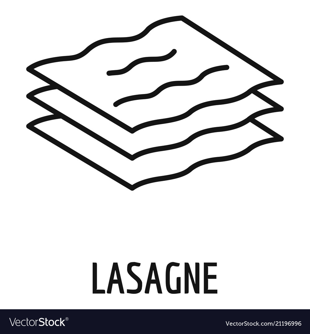 Lasagne icon outline style vector image