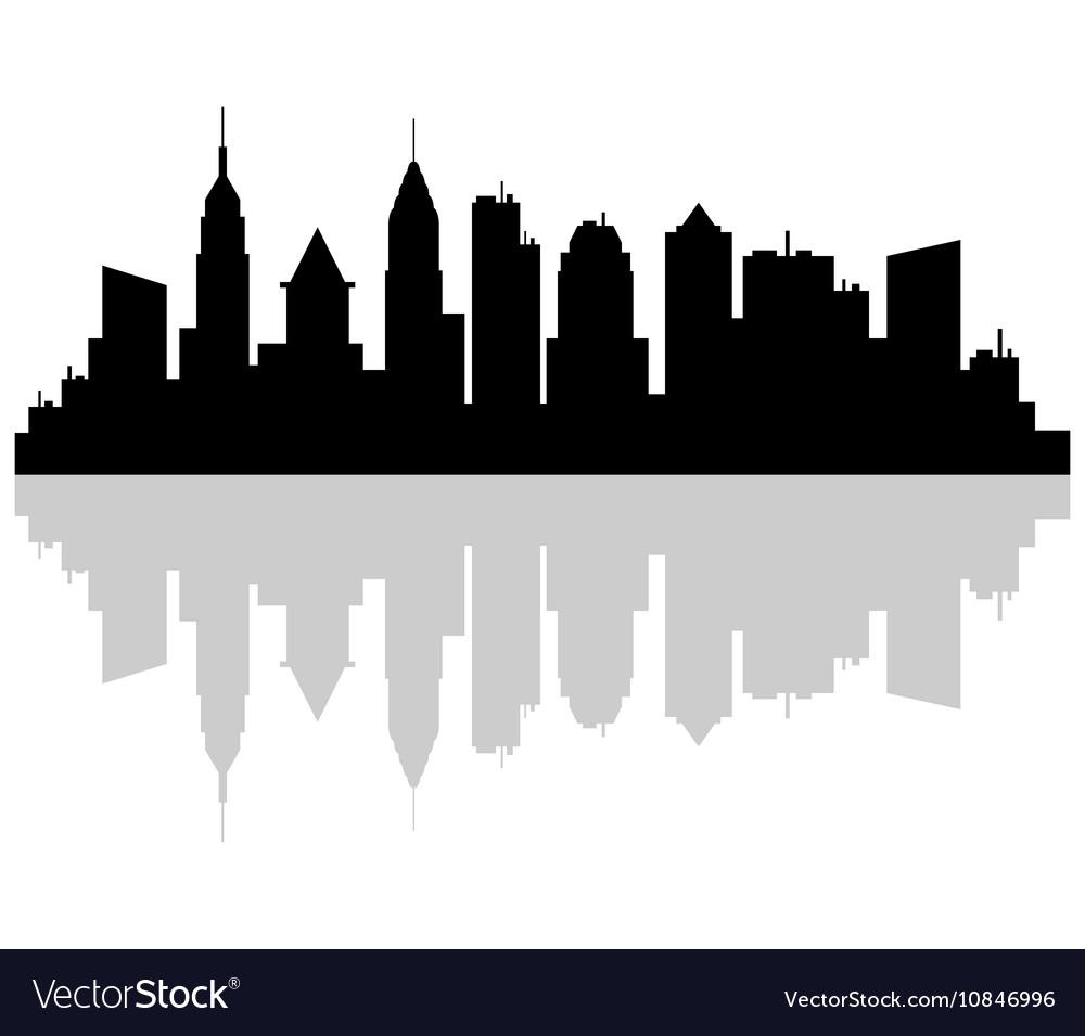 new york skyline royalty free vector image vectorstock rh vectorstock com skyline vector singapore skyline vector singapore