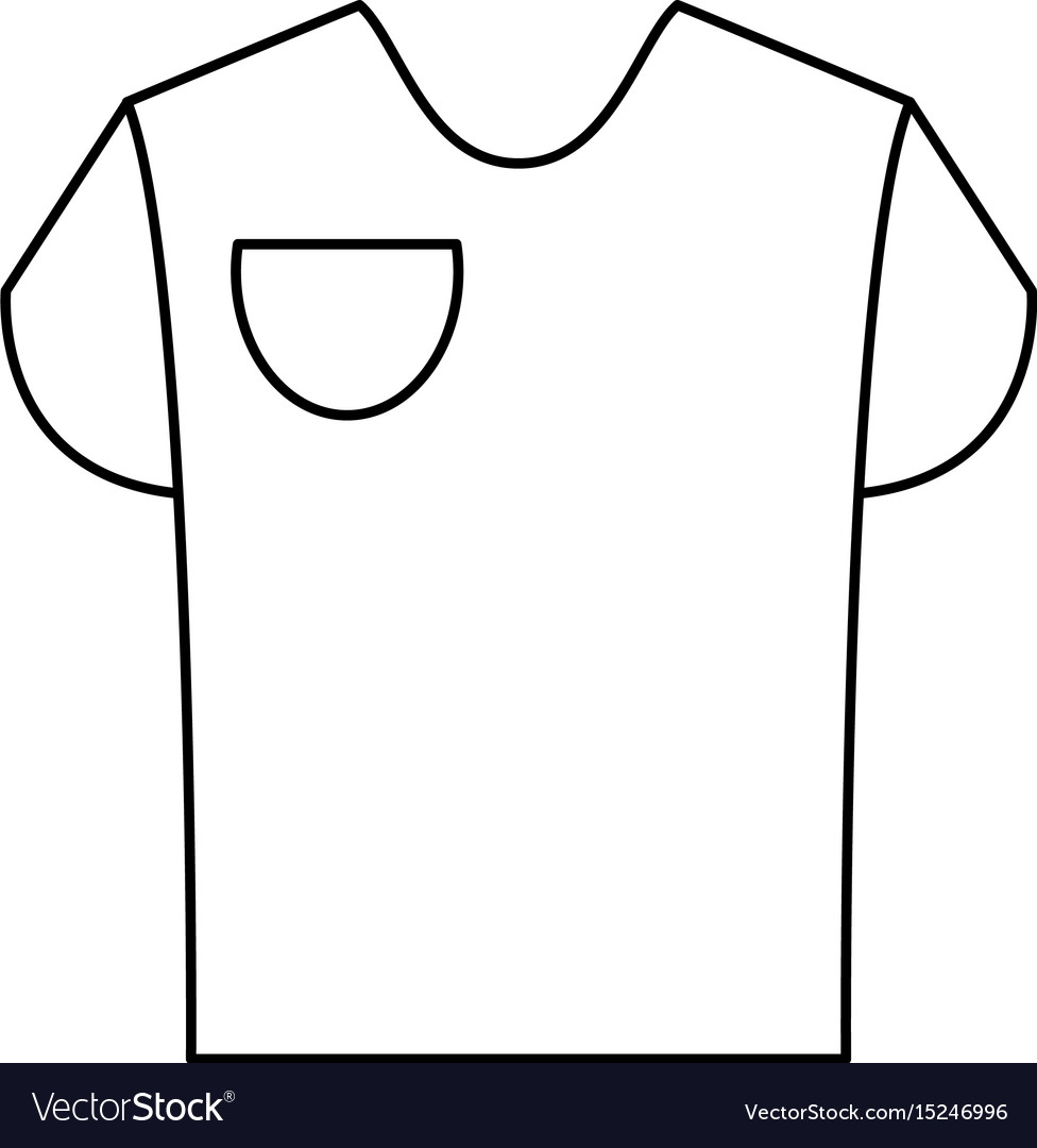 T Shirt With Front Pocket Icon Image Royalty Free Vector