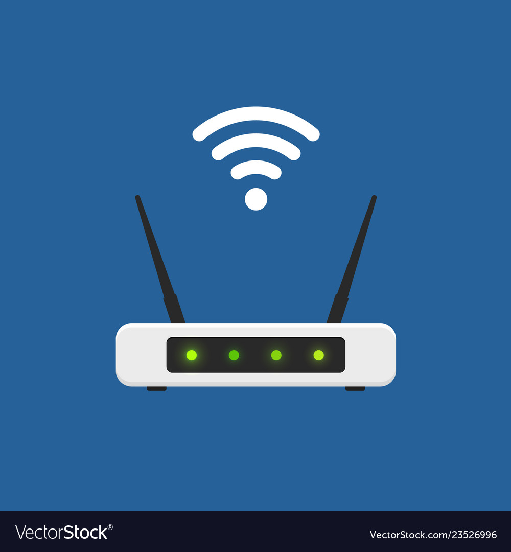 Wifi router flat design isolated wireless