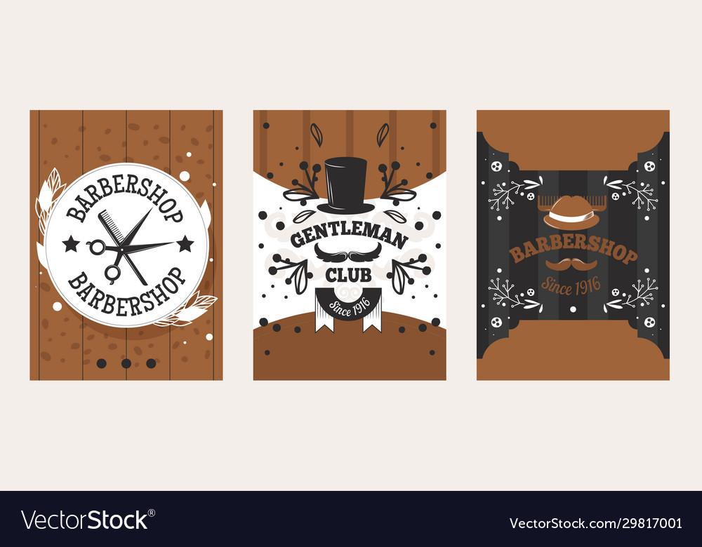 Barbershop vintage badge design