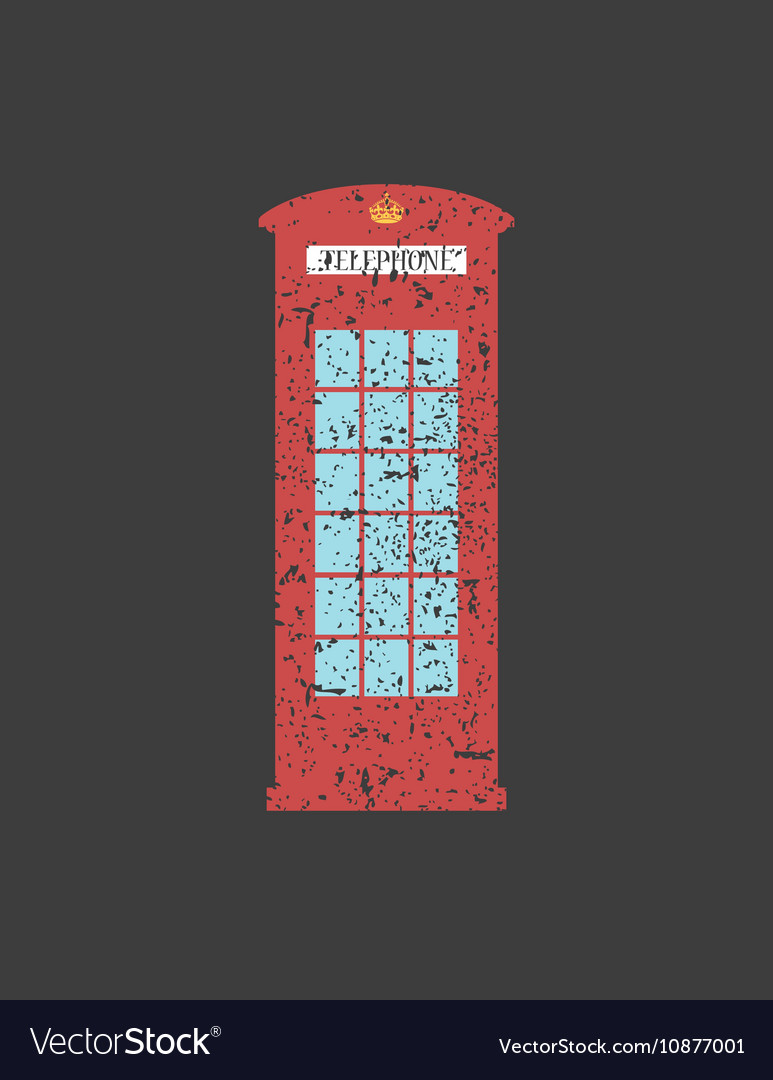 British telephone box London vintage style word vector image