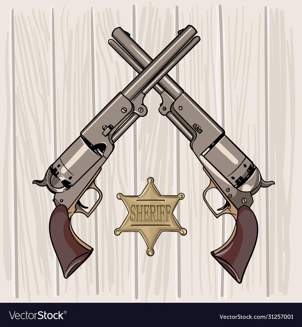 Colt model 1848 dragoon two revolvers