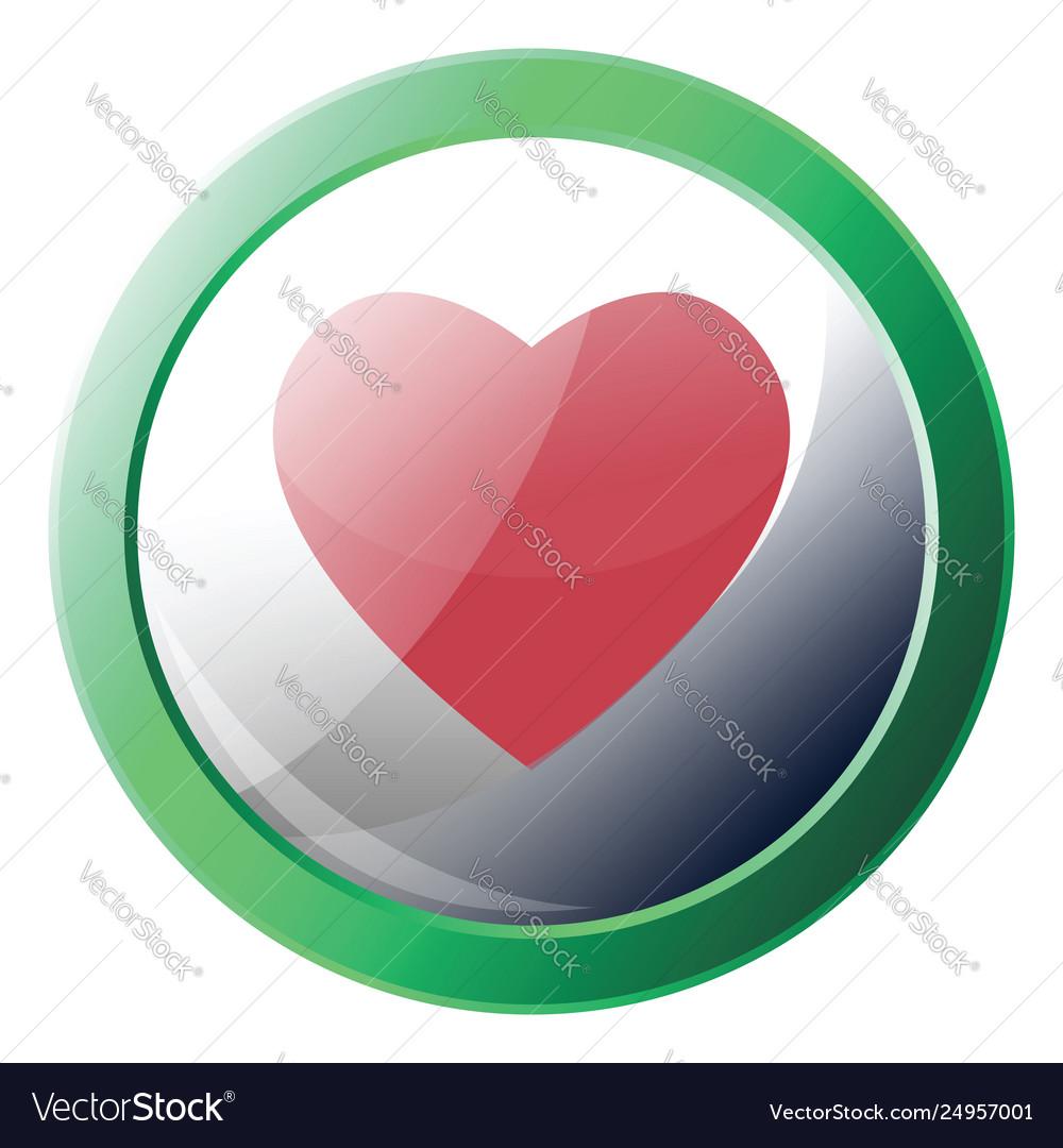 Happn app logo inside a green circle icon on a