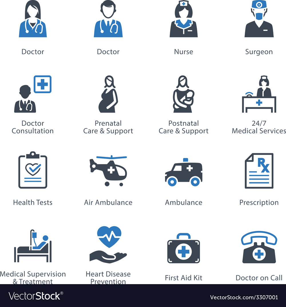 Medical and Health Care Icons Set 1 - Services