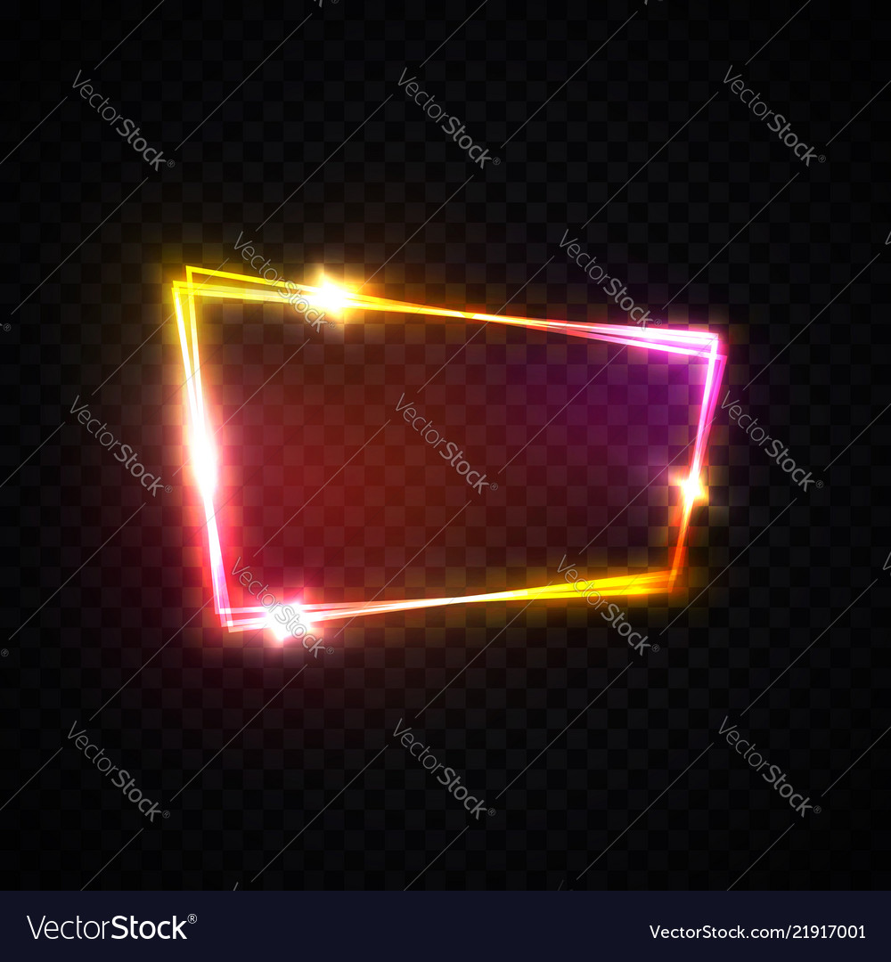 Neon pink red purple signage with space for text