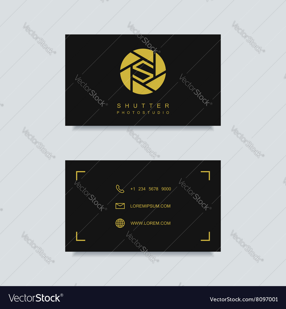 Photography business card template royalty free vector image photography business card template vector image friedricerecipe Images