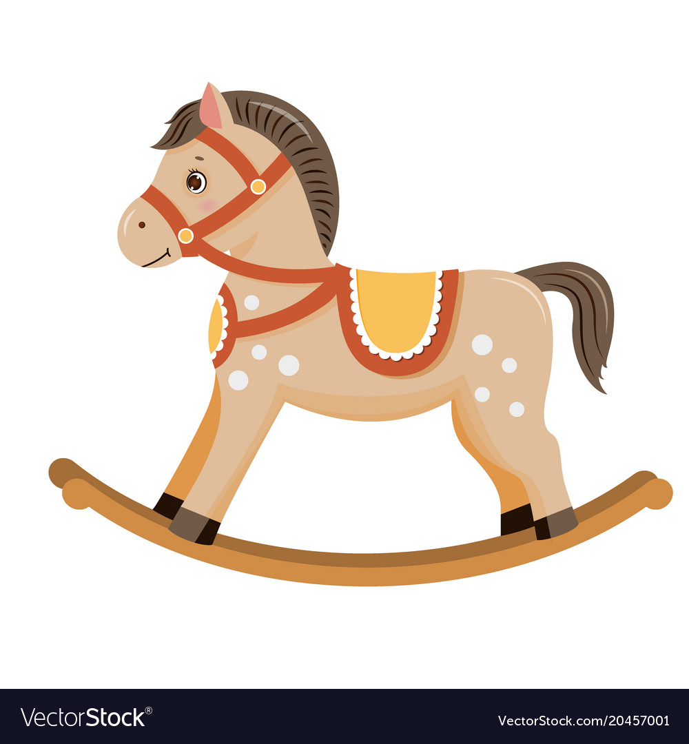 Rocking Horse Baby Toy Royalty Free Vector Image
