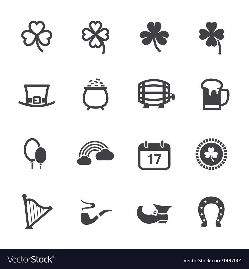 Saint Patricks Day Icons